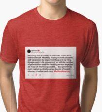 Fake Tweets - Nietzsche Tri-blend T-Shirt