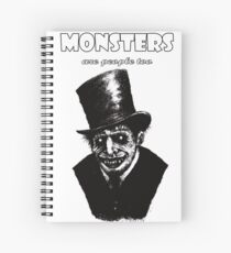 Monsters are People Too Spiral Notebook