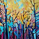 YELLOW TREES IN SUMMER CARD by Alison Newth