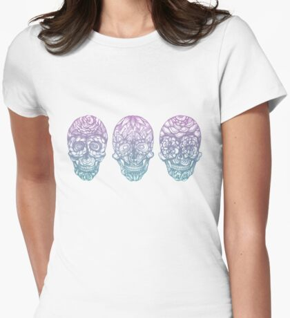 Candy Skulls Womens Fitted T-Shirt