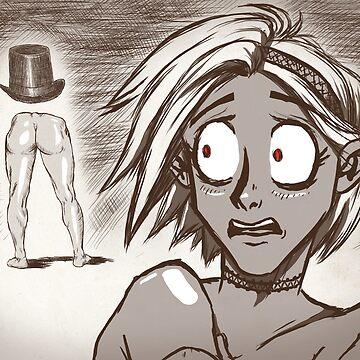 «Rencontre terrifiante avec l'homme cul» par le-grom