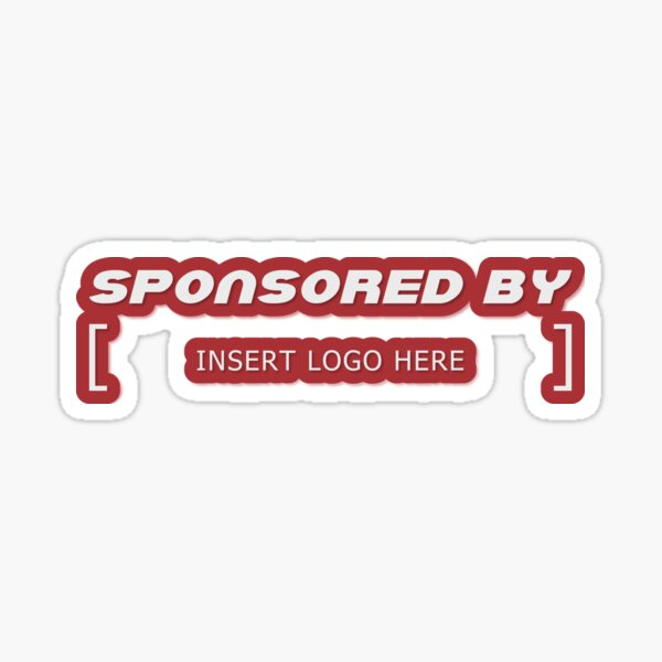 Sponsored by - Insert logo here Sticker