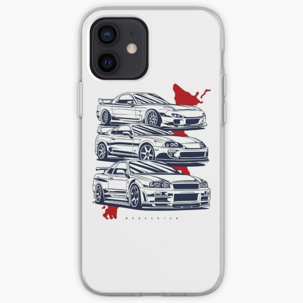JDM crew. RX7, Skyline GTR, Supra iPhone Soft Case