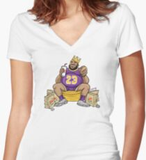 The Burger King Women's Fitted V-Neck T-Shirt