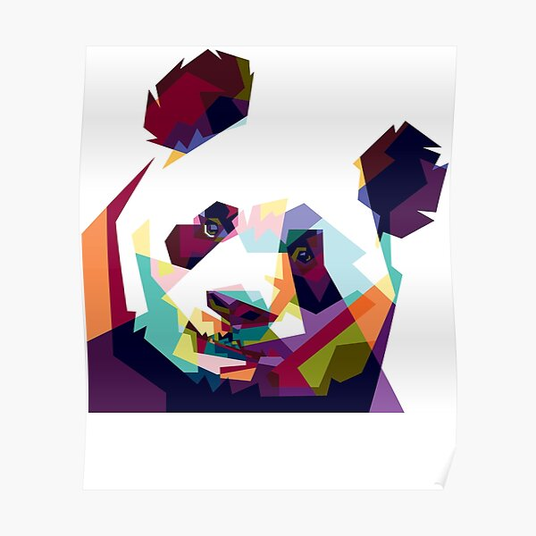 Colorful Pand Poster