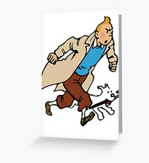 Tintin - On a Mission Greeting Card