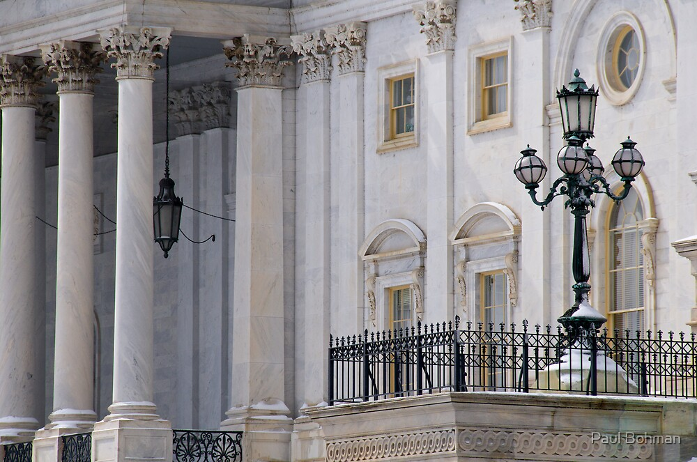 Capitol Lamppost and Columns  by Paul Bohman