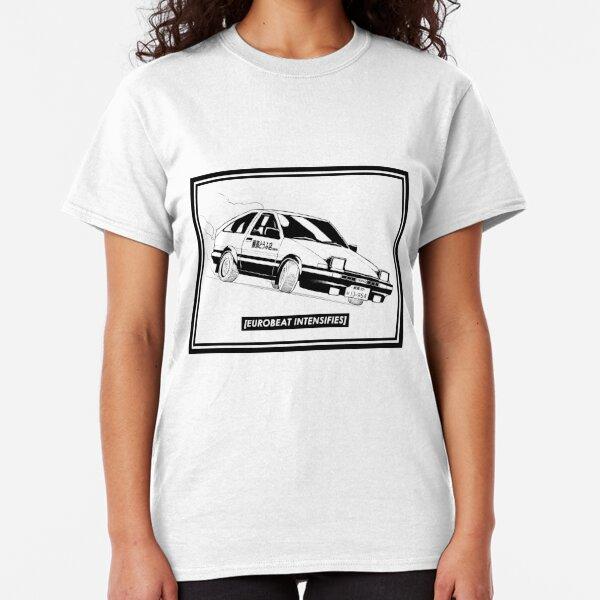 Eurobeat Intensifies AE86 Kansei Dorifto Initial D Car Classic T-Shirt