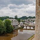 View of the River Oust from Chateau de Josselin - Morbihan - Brittany - France by Buckwhite