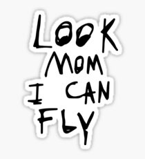 Look mom i can fly Sticker