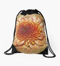 Orange Sparkle Drawstring Bag