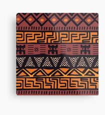 Colorful Bohemian Pattern Metal Print
