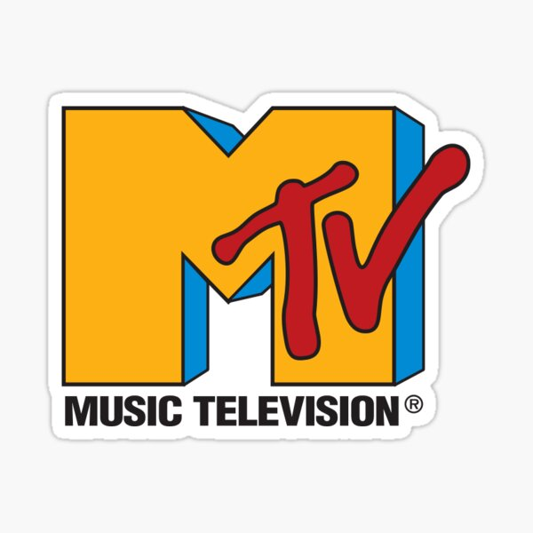 MTV logo sticker Sticker