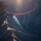 Grand Canyon lens flare by Christopher Barker