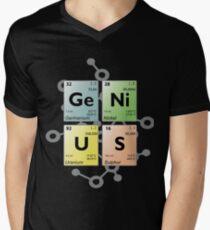 Periodic table GENIUS Men's V-Neck T-Shirt