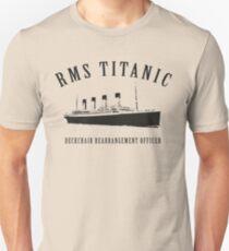 RMS Titanic Deckchair Rearrangement Officer Unisex T-Shirt