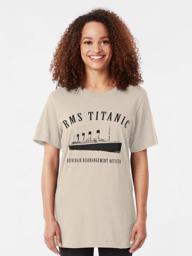 Alternate view of RMS Titanic Deckchair Rearrangement Officer Slim Fit T-Shirt