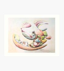 """Full Force - watercolor - 10"""" x 8"""" Art Print"""