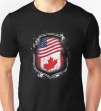 Canadian American Flag Unisex T-Shirt