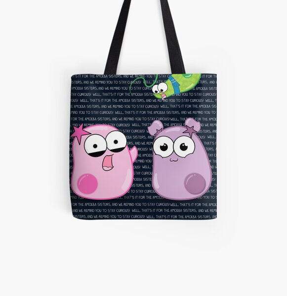 Amoeba Sisters Catchphrase All Over Print Tote Bag