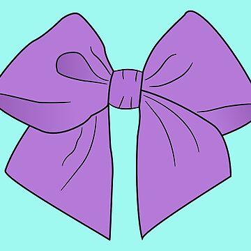 Vibrant Violet Vector Bow by LozMac