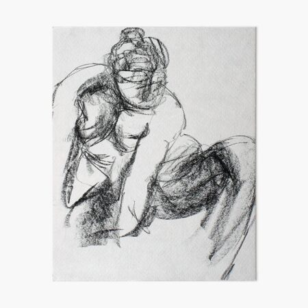 Figure Drawing Art Board Print