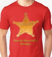 Rusty Sheriff's Badge Unisex T-Shirt