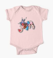 Jem and the Holograms - Logo - Group Color Short Sleeve Baby One-Piece