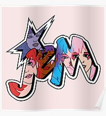 Jem and the Holograms - Logo - Group Color Poster