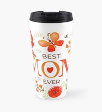 Mother's Day Butterflies and Flowers Travel Mug