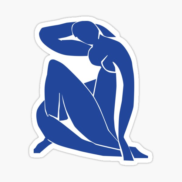 Homage to Henri Matisse: Blue Nude II Sticker