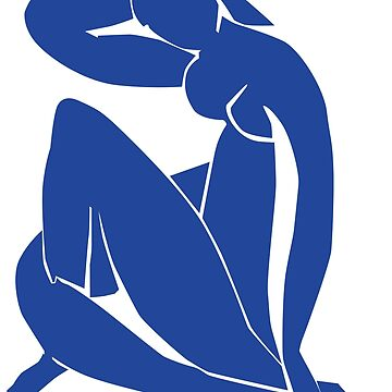 Homage to Henri Matisse: Blue Nude II by iopan