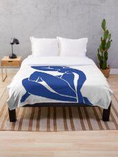 Homage to Henri Matisse: Blue Nude II Throw Blanket