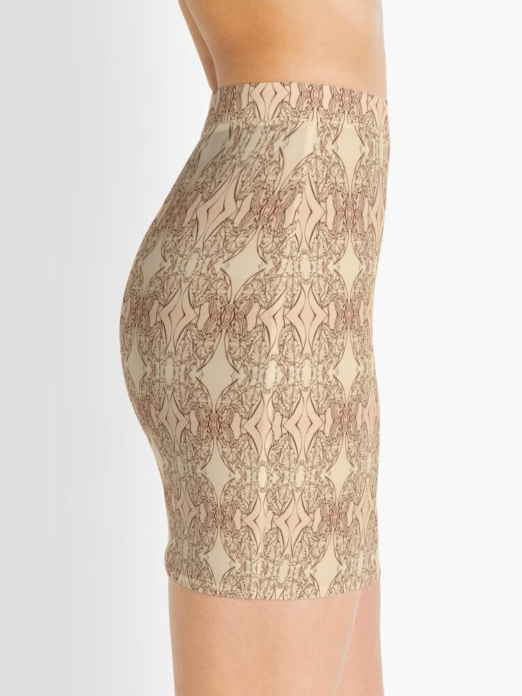 Alternate view of Pink Iris in Bloom Mini Skirt