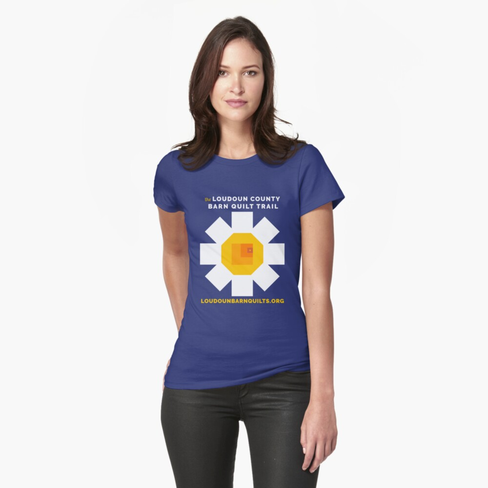 Loudoun Barn Quilt Daisy Merch Fitted T-Shirt