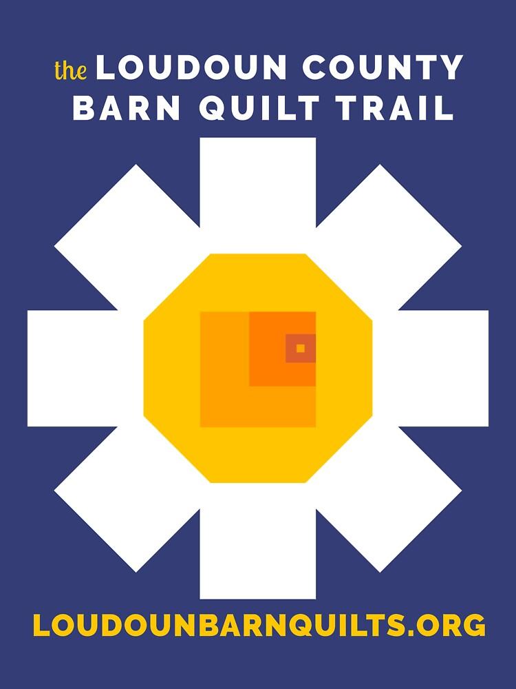 Loudoun Barn Quilt Daisy Merch by loudounarts