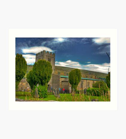 Dent Church - Dentdale. Art Print
