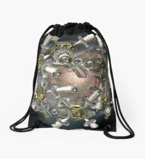 As Memory Fades 2 (Silver) Drawstring Bag