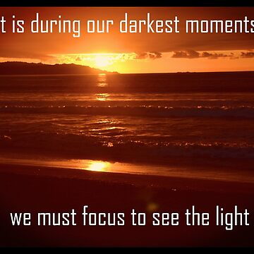 We must focus to see the light by happyTshirt