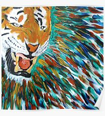 Snarling Angry Tiger  Poster
