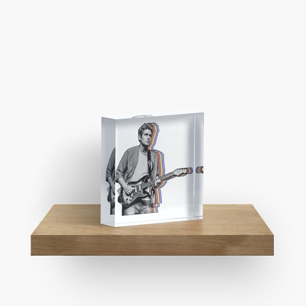 John Mayer en capas Bloque acrílico