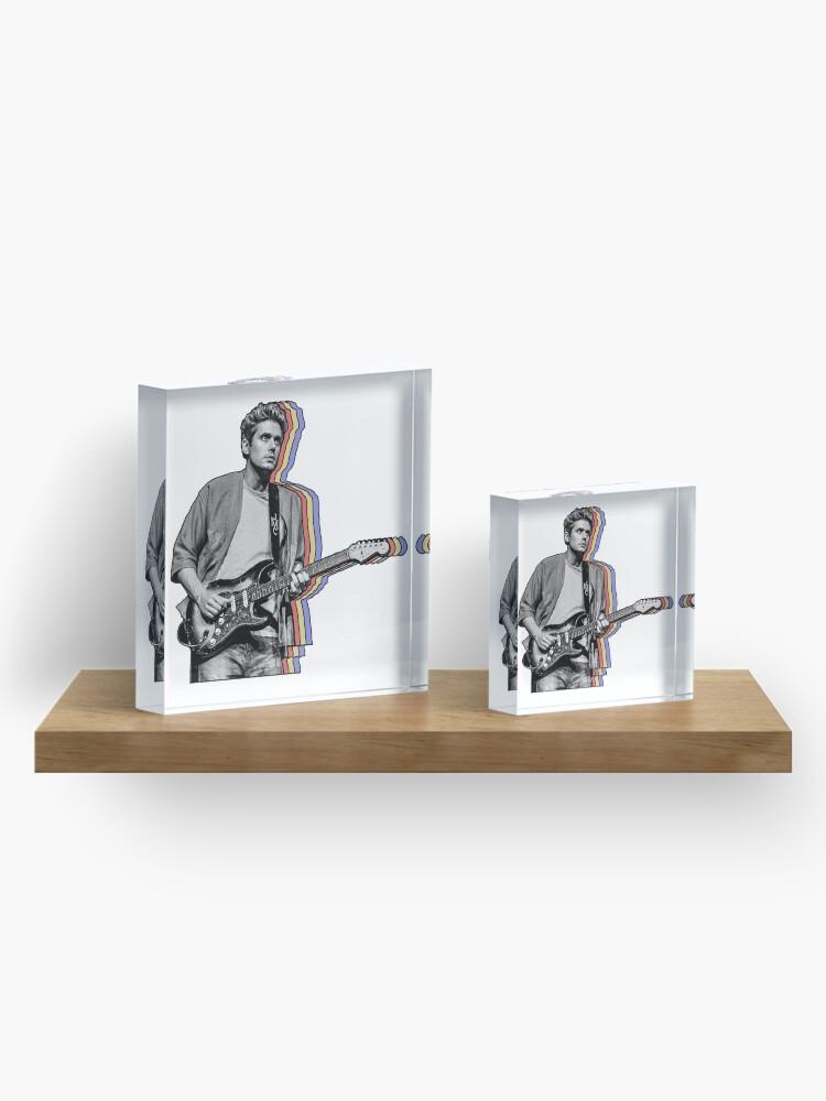 Vista alternativa de Bloque acrílico John Mayer en capas