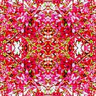 Apple Blossom Fugue Bright Pink Sketch by Candy Paull