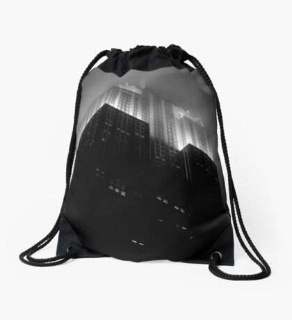 Empire State Building by night Drawstring Bag