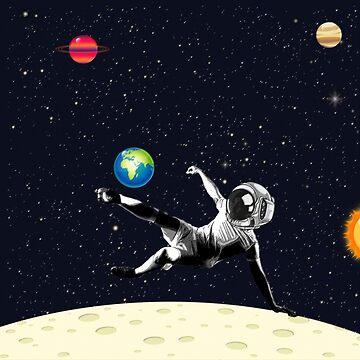 Playing Football in the Space | Digital Art by CarlosV