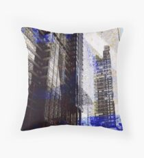Chicago from the river Throw Pillow
