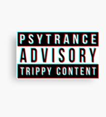 Psytrance Canvas Print