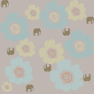 Elephants and Flowers by MelissaB