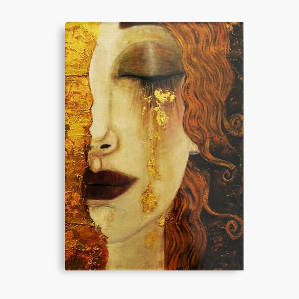 Golden Tears...Jugendstil art Metal Print