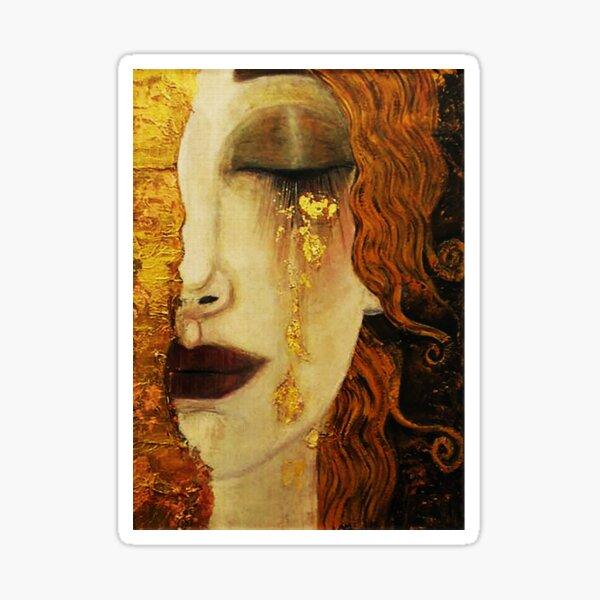 Golden Tears...Jugendstil art Sticker